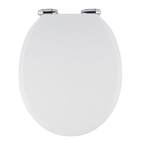 High Gloss White MDF Soft Close Bottom Fixing Toilet Seat