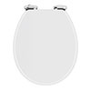 High Gloss White MDF Soft Close Bottom Fixing Toilet Seat profile small image view 1