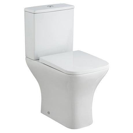 Milton Modern Square Comfort Height Toilet + Soft Close Seat