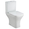 Milton Modern Square Comfort Height Toilet + Soft Close Seat profile small image view 1