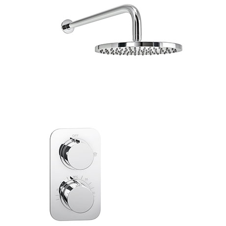 Montreal Concealed Modern Shower Package with Valve + Fixed Round Head