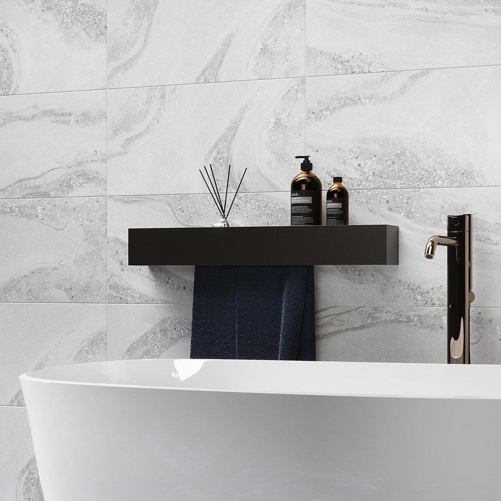 Monsanto Grey Stone Effect Wall Tiles - 300 x 600mm