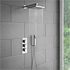 Milan Triple Thermostatic Shower Package with Head + Handset Medium Image