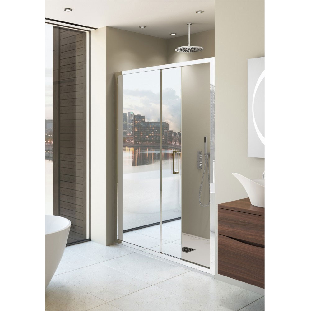 Simpsons Elite Mirrored Single Slider Shower Door 5