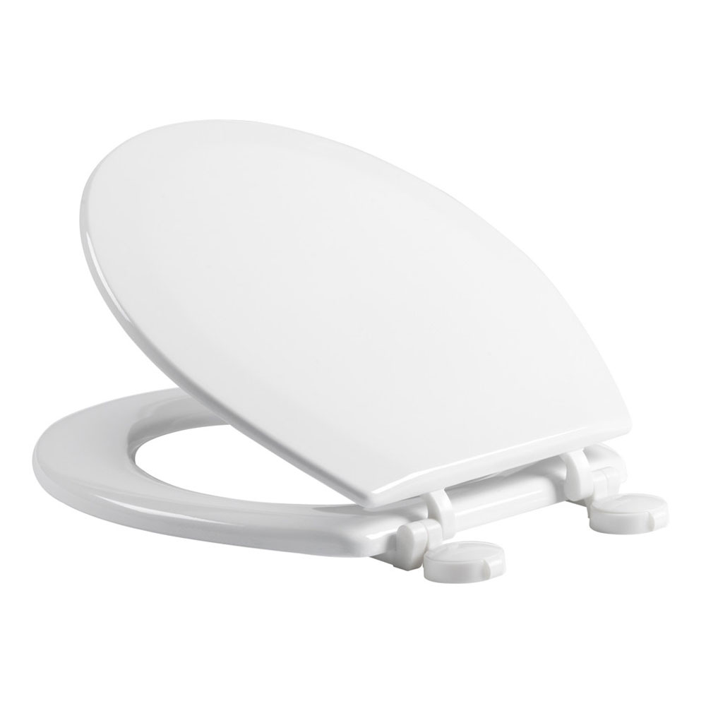 Tavistock Meridian Gloss White Moulded Wood Toilet Seat Large Image