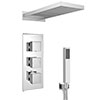 Milan Shower Pack (Rainfall / Waterfall Shower Head, Outlet Elbow w. Parking Bracket + Handset) profile small image view 1