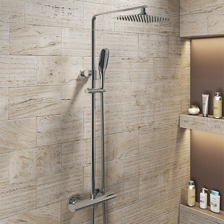 Montreal Oval Thermostatic Shower