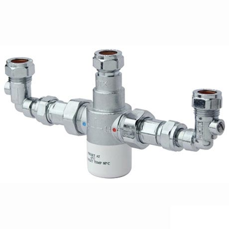 Bristan - Gummers 15mm Thermostatic Mixing Valve with Isolation Elbows - MT503CP-ISOELB