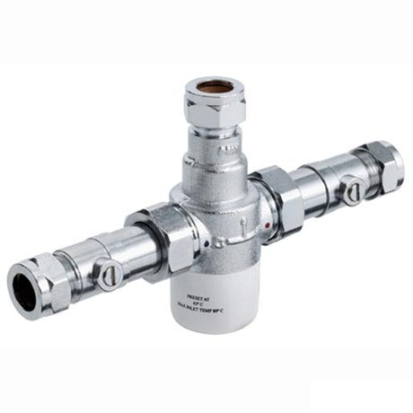 Bristan - Gummers 15mm Thermostatic Mixing Valve with Isolation - MT503CP-ISO