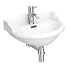 Milton 500 x 385 Traditional Wall Hung Basin (1 Tap Hole) profile small image view 1