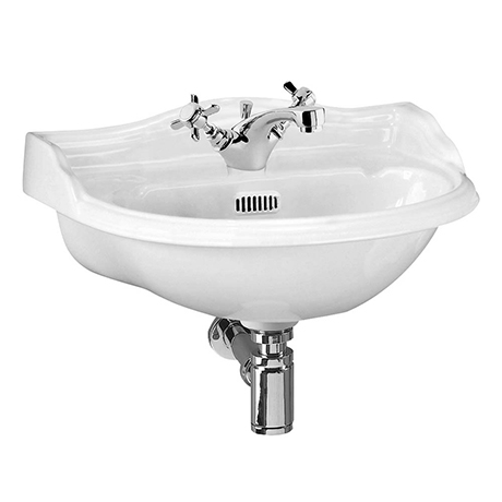 Milton 500 x 385 Traditional Wall Hung Basin (1 Tap Hole)