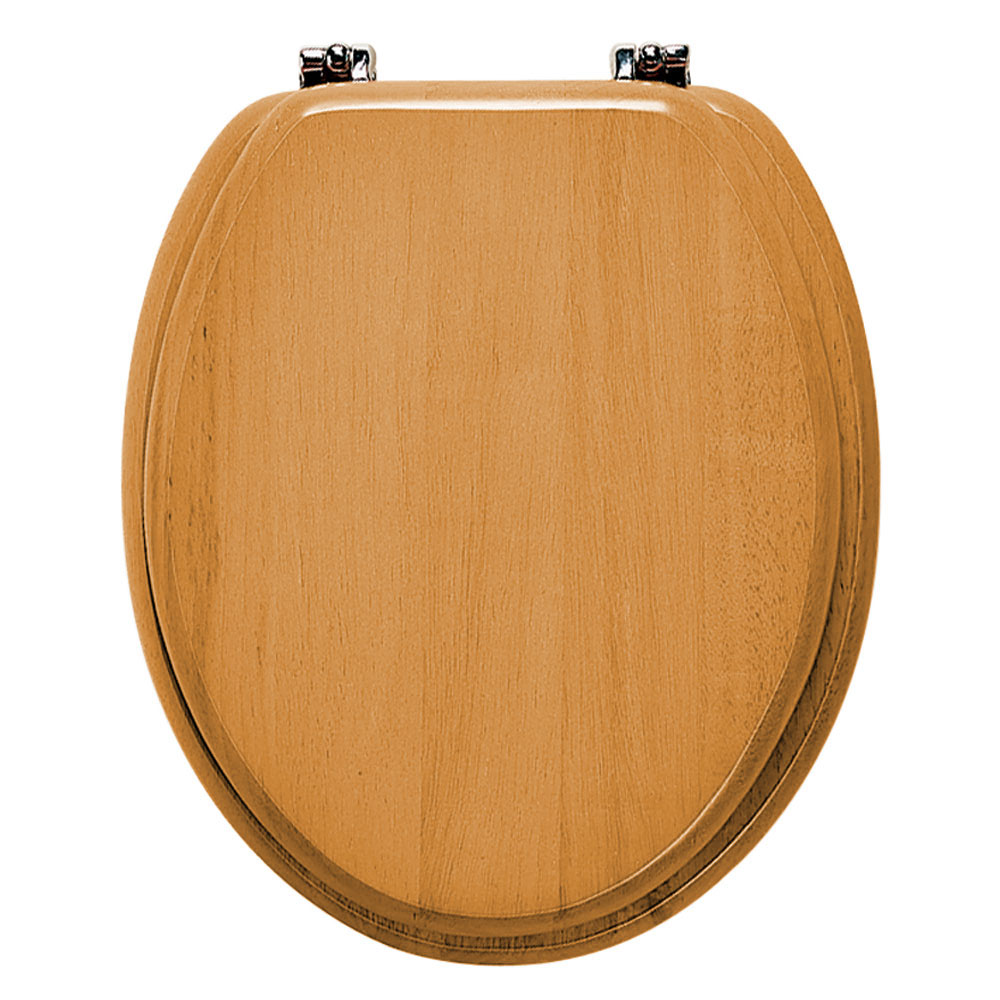 Roper Rhodes Malvern Wooden Toilet Seat - Antique Pine profile large image view 1