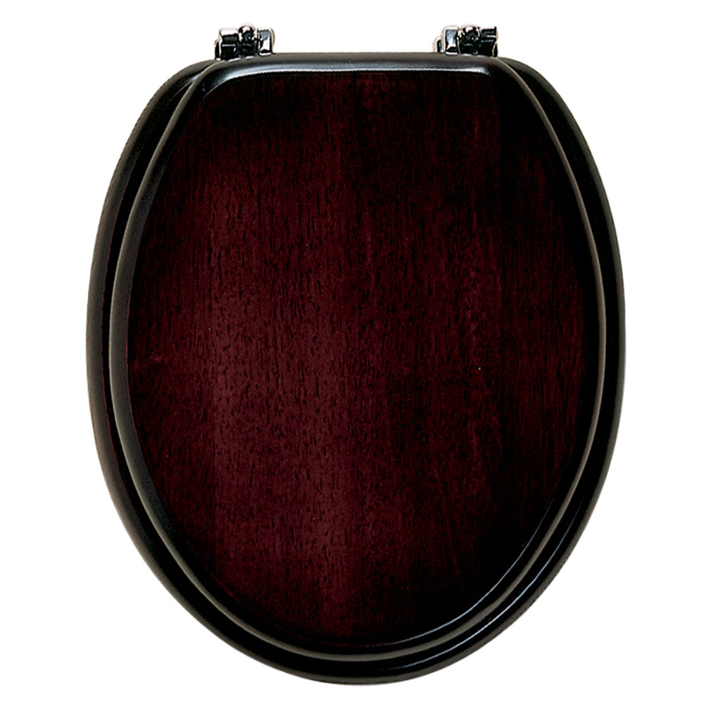 Roper Rhodes Malvern Wooden Toilet Seat - Mahogany profile large image view 1