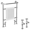 Savoy Traditional Radiator with Crosshead Valves profile small image view 1