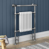 Savoy Traditional Heated Towel Rail Radiator profile small image view 1