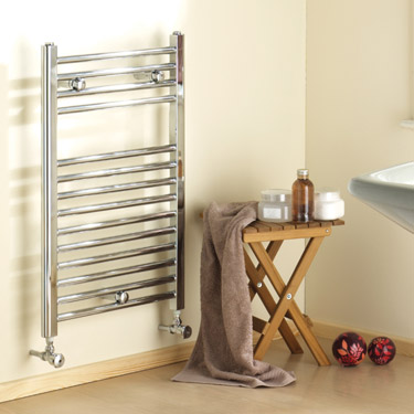 Chrome Straight Ladder Heated Towel Rail 500 x 700mm - MTY064 Profile Large Image