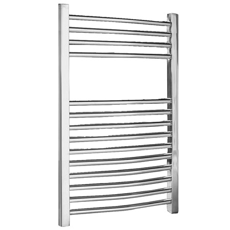 Chrome Curved Ladder Heated Towel Rail 500 x 700mm - MTY066 profile large image view 1