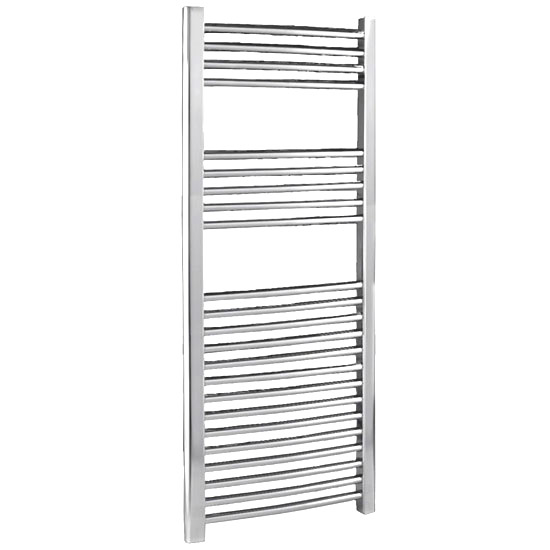 Chrome Curved Ladder Heated Towel Rail 500 x 1100mm - MTY067 Large Image