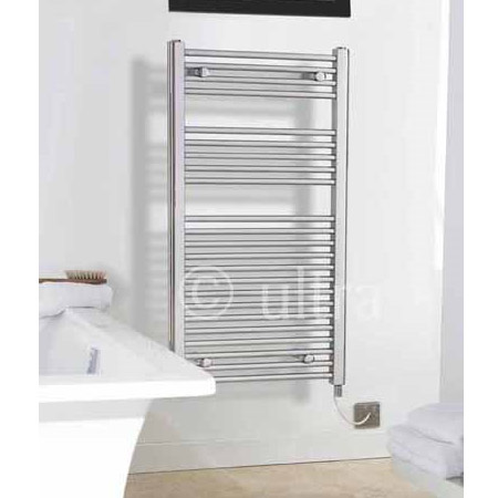 Electric-Only Heated Towel Rail 500 x 1100mm - Chrome - MTY068 Profile Large Image