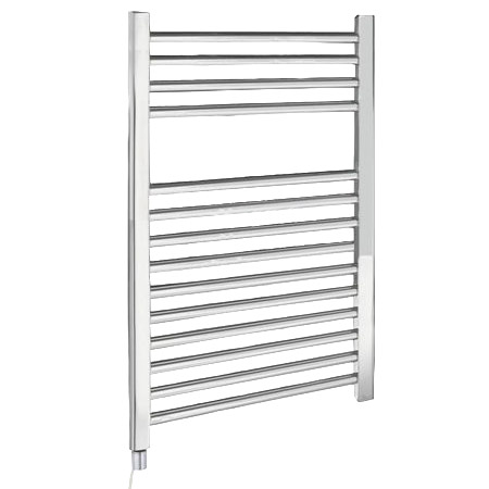 Electric-Only Heated Towel Rail 500 x 700mm - Chrome - MTY069 Large Image