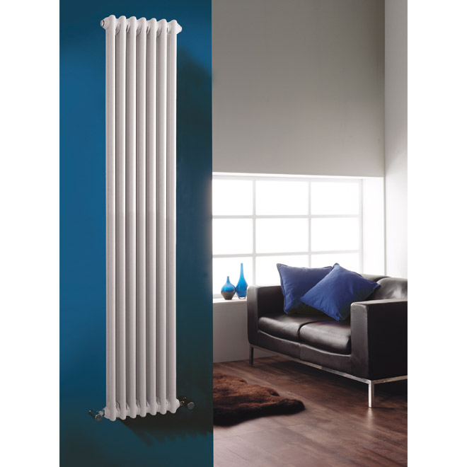 Premier - Regency 2 Column Radiator - 1800 x 335mm - White - MTY070 profile large image view 3