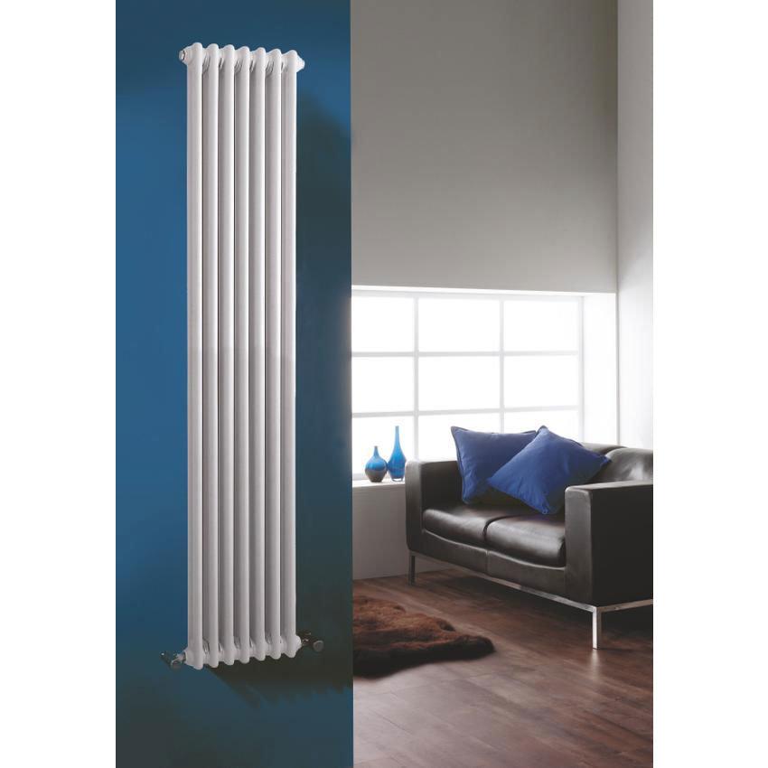 Premier - Regency 2 Column Radiator - 1800 x 425mm - White - MTY072 Feature Large Image