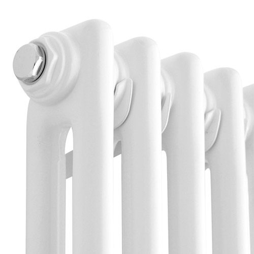 Premier - Regency 2 Column Radiator - 600 x 650mm - White - MTY076 profile large image view 2