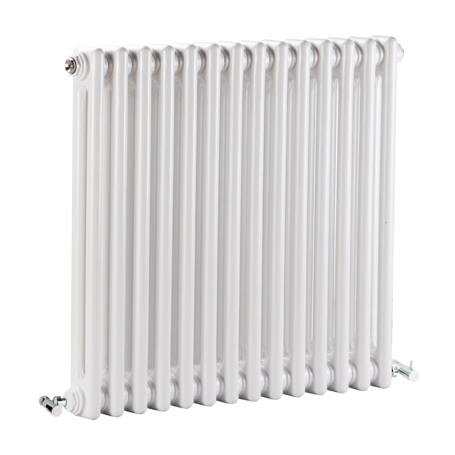 Premier - Regency 2 Column Radiator - 600 x 650mm - White - MTY076 profile large image view 1