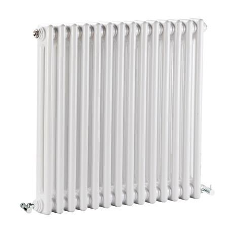 Premier - Regency 2 Column Radiator - 600 x 650mm - White - MTY076