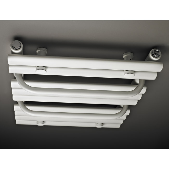Premier - Vertical Heated Towel Rail - 650 x 445mm - White - MTY081 Profile Large Image