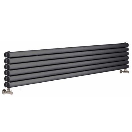 Premier - Ricochet Horizontal Double Panel Radiator - 354 x 1750mm - Anthracite
