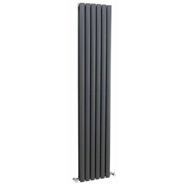 Premier - Ricochet Double Panel Radiator - 1750 x 354mm - Anthracite - MTY083 Large Image