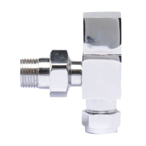 Premier - Chrome Angled Radiator Valves - MTY122 Large Image