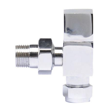 Premier - Chrome Angled Radiator Valves - MTY122
