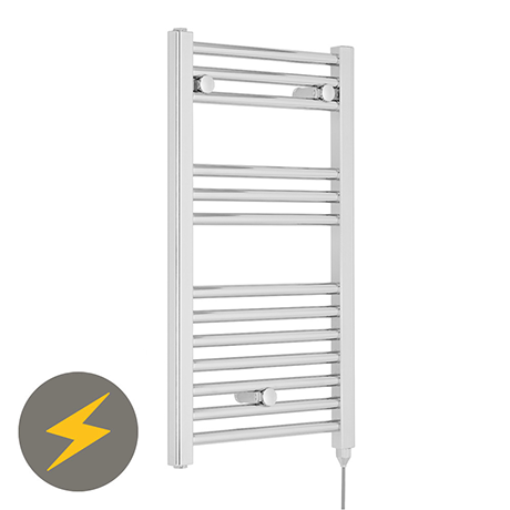 Premier H720mm x W400mm Chrome Electric Only Ladder Rail - MTY150