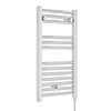 Nuie H720mm x W400mm Chrome Electric Only Ladder Rail - MTY150 profile small image view 1