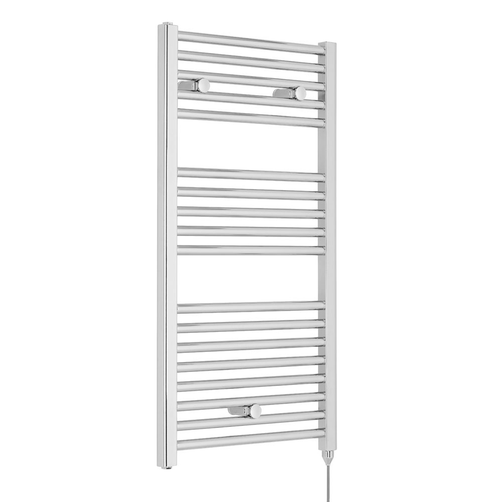 Nuie H920mm x W480mm Chrome Electric Only Ladder Rail - MTY151