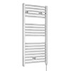 Nuie H920mm x W480mm Chrome Electric Only Ladder Rail - MTY151 profile small image view 1