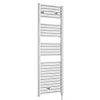 Premier H1375mm x W480mm Chrome Electric Only Ladder Rail - MTY152 profile small image view 1