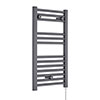 Nuie H720mm x W400mm Anthracite Electric Only Ladder Rail - MTY153 profile small image view 1