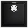 Reginox Multa 102 1.0 Bowl Granite Kitchen Sink - Black profile small image view 1