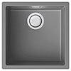 Reginox Multa 102 1.0 Bowl Granite Kitchen Sink - Light Grey profile small image view 1
