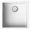 Reginox Multa 102 1.0 Bowl Granite Kitchen Sink - White profile small image view 1
