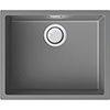 Reginox Multa 105 1.0 Bowl Granite Kitchen Sink - Light Grey profile small image view 1