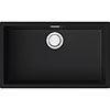 Reginox Multa 130 1.0 Bowl Granite Kitchen Sink - Black profile small image view 1