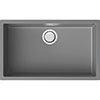 Reginox Multa 130 1.0 Bowl Granite Kitchen Sink - Light Grey profile small image view 1