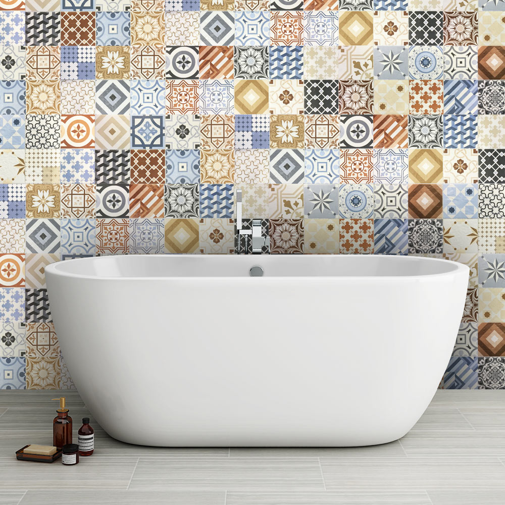 Murcia Encaustic Effect Wall And Floor Tiles 257 X 515mm