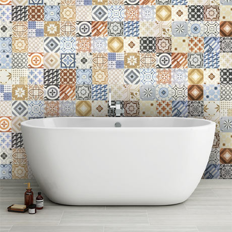 Murcia Encaustic Effect Wall and Floor Tiles - 257 x 515mm