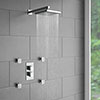 Milan Concealed Thermostatic Valve with Diverter, Fixed Shower Head + 4 Body Jets profile small image view 1