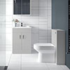 Turin Modern Light Grey Sink Vanity Unit + Toilet Package profile small image view 1
